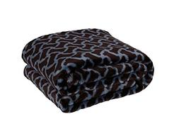 HappyCare Textiles 047393528933 Printed dog paw Flannel thro