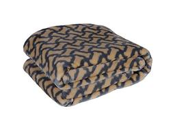 HappyCare Textiles 047393528940 Printed dog paw Flannel thro