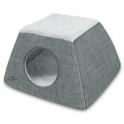 2-in-1 Cat Bed and Cave - with Plush Lining by Best Pet Supp