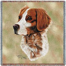Pure Country 1154-LS Brittany Spaniel Pet Blanket, Canine on
