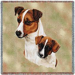 Pure Country 1208-LS Jack Russell Pup Pet Blanket, Canine on