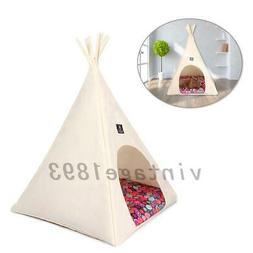 1XPet Teepee Dog Puppy Cat Bed Washable Portable Pet Tent Ho