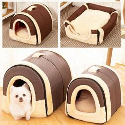 2 in 1 Pet Bed Puppy Kennel Sofa Bed Dog Pad Cat House Sleep