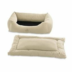 Pet Dreams 2in1 Plush Bumper XLarge Dog Bed Ivory