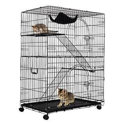Giantex 2-Tier Cat Playpen Cat Cage with 2 Climbing Ladders