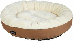 AmazonBasics 20in Pet Bed For Cats or Small Dogs Round