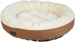 AmazonBasics 20in Pet Bed For Cats or Small Dogs,Plush flann
