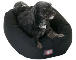24 Black Bagel Bed By Majestic Pet Products