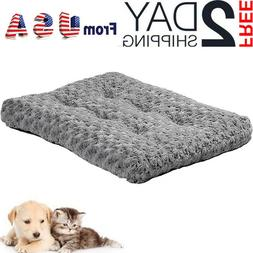 """24"""" Pet Bed for Dog Cat Crate Mat Plush Soft Warm Pad Liner"""