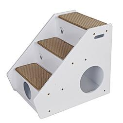 Petsfit 3-Steps Dog Stairs,White