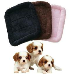 3 Colors Pet Bed Cushion Mat Pad Dog Cat Cage Kennel Crate W