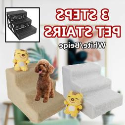 3 Steps Pet Stairs for Dog Cat Indoor Animal Soft Steps Ramp