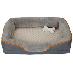 31'' Dog Bed Memory Foam Pet Bed with Removable Washable Cov