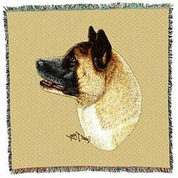 Pure Country 3322-LS Akita Pet Blanket, Canine on Beige Back
