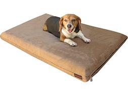 Dogbed4less 2 Pack Gel Cooling Memory Foam Dog Bed for Small