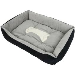 "35"" Large Pet Dog Bed Memory Foam Pet Bed Washable Warm Nest"