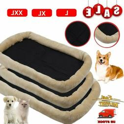 "36""~48"" Pet Bed for Dog Cat Crate Mat Soft Warm Pad Liner Ho"