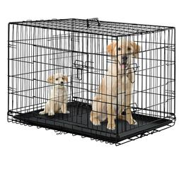 36 Pet Folding Dog Cat Crate Cage Kennel w/ABS Tray by BestP