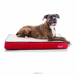 BRINDLE 4 inch Orthopedic Memory Foam Dog Bed, For Dogs and