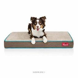 4 Inch Solid Memory Foam Orthopedic Dog Bed w/Removable Wate