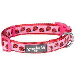 Blueberry Pet 7 Patterns Ladybug Designer Basic Dog Collar,