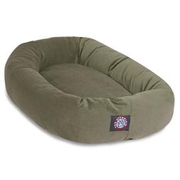 40 Sage Suede Bagel Dog Bed By Majestic Pet Products
