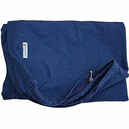 Dogbed4less 40X35X4 Inches Blue Color Durable Denim Jean Pet