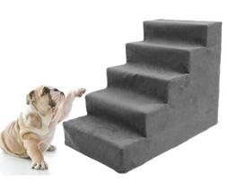5 Steps Dog Stairs to get on High Bed Pet Ramp Ladder for Sm