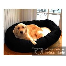 "Majestic Pet 52"" Sherpa Bagel Pet Dog Bed for 70-110 lbs dog"