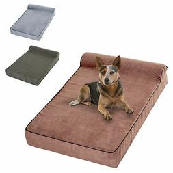"52"" x 36"" Extra Large Memory Foam Dog Bed Pet Cot Waterproof"