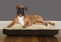 Arlee 59-40392NAT Orthopedic Mattress Pet Bed for Dogs and C