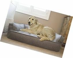 Arlee Memory Foam Sofa Style Pet Bed, Small/Medium, Walnut T