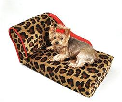 BESTChoiceForYou Leopard with Sangria Trim Pet Chaise Lounge