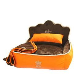 Dog Bed Cat Bed Luxury Princess Pet Bed With Pillow Blanket