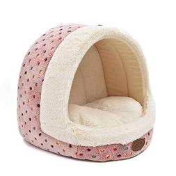 FOONEE Cave Dog Bed, Burrow Pet Bed Patterns Striped Cute Pe