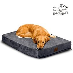 Floppy Dawg Large Dog Bed with Removable Cover and Water Res
