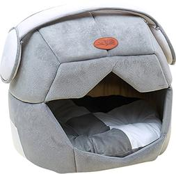 Jetsan Space Helmet Cave Pet Tent Bed - Soft Bed for Dog and