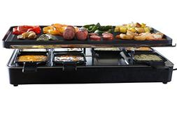 Milliard Raclette Grill for Eight People, Includes Granite C