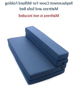Milliard Replacement Cover for Tri-Fold Mattress and Sofa Be