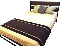 OctoRose  Quilted Micro Suede Bed Runner Scarf Protector Sli