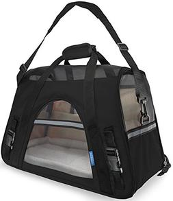 Pet Carrier Soft Sided Small Cat / Dog Comfort Black Travel