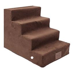Qz Cat Stairs For High Bed Couch 4 Step, Small Pet Dog Step