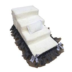 Qz Doggie Steps For Small Dogs For High Beds 4 Step White, S