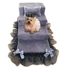 Qz Grey Pet Stairs For Medium Dogs For Tall Bed 4 Step, Spon