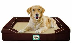 Sealy Dog Bed with Quad Layer Technology, Large, Autumn Brow