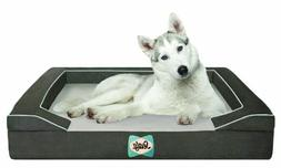 Sealy Dog Bed with Quad Layer Technology, Large, Modern Gray