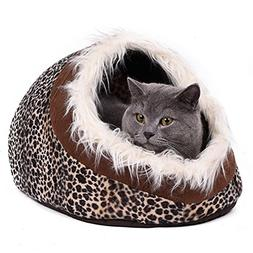 Super Warm Cat Cave Bed - Dog House Puppy Kennel Shelter - f
