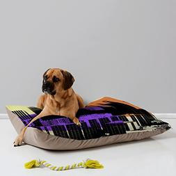 Deny Designs Amy Smith Skyline Pet Bed, 40 by 30-Inch