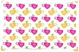 "Kess InHouse Apple Kaur Designs ""Tea-Birds"" Orange Pink Dog"
