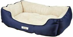 ASPCA (AS-3075(  Microtech Striped Dog Bed Cuddler, 28 by 20